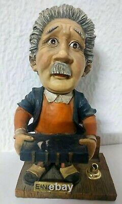 Vintage Albert Einstein Statue Physicien Scientifique Livre Rare Allemand Fiberglass