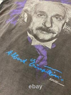 Vintage Andazia Albert Einstein E = Mc2 Chemise À Maille Unique Surlavée Grande