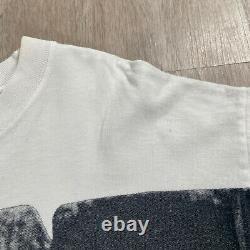 Vintage Andazia Albert Einstein T-shirt All Over Stonehenge Hommes Taille XL Blanc