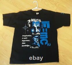 Vintage Musée National De L'atomic Einstein L T-shirt E=mc2 Single Stitch Excellent